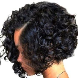 New Africa American Heat Resistant Curly Short Wig